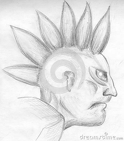Evil punk - sketch