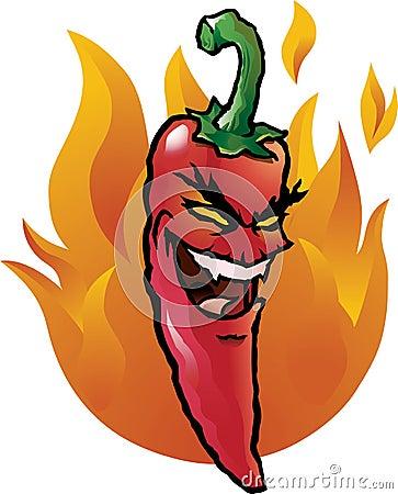 Evil red chili pepper