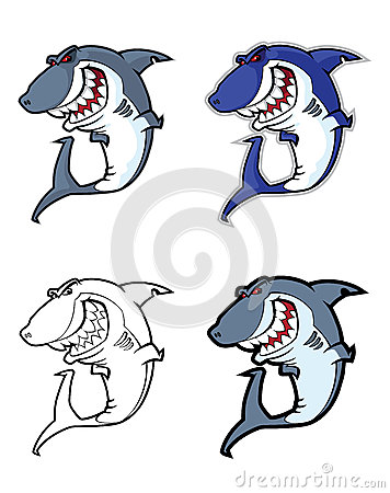 Evil shark mascot