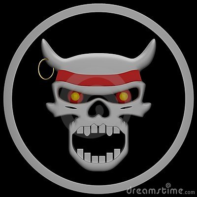 Evil Skull Stock Photo - Image: 21412190
