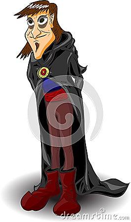 Evil wizard, vector