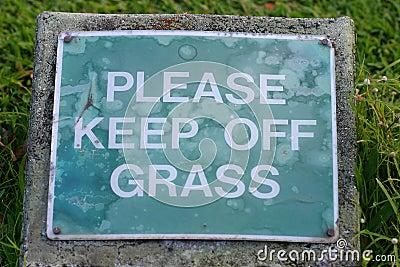 Evite a grama