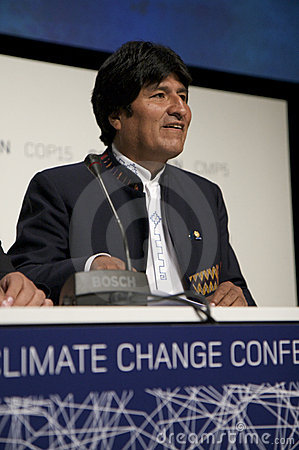 Evo Morales Editorial Stock Photo
