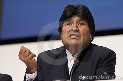 Evo Morales Editorial Photo