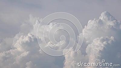 Evolutie van wolken - tijdtijdspanne stock footage
