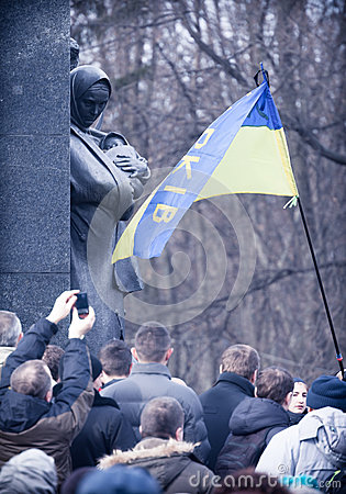 Evromaydan rallies activists in Ukraine Editorial Stock Photo