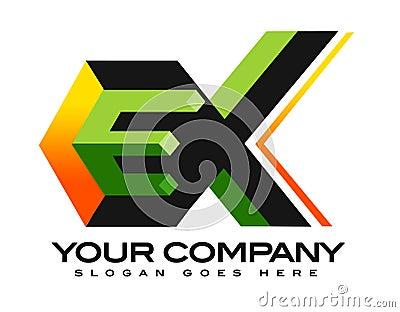 EX 3D Logo