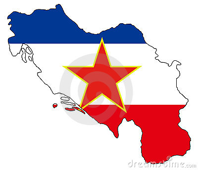 Ex Yugoslavia map and flag