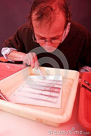 Examining a print