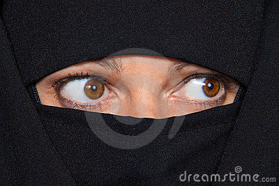 Example picture Islam. Muslim veiled woman