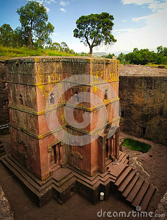 Free Excavated Cross St. George Church In Lalibela, Ethiopia Royalty Free Stock Images - 94927979