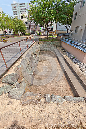 Free Excavated Site Of Former Kitanosho Castle In Fukui, Japan Stock Photography - 84209892