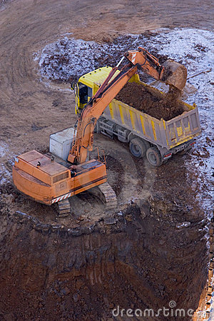 Excavation and loading