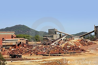 Excavation metal outdoor mine Riotinto