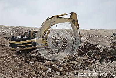 Excavation in stone