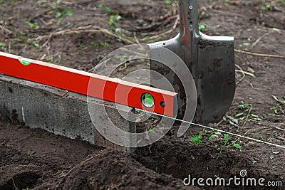 Excavation work on the farm