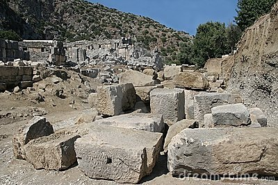 Excavations in ancient city of Myra