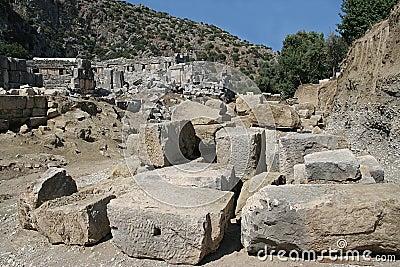 Excavations in ancient city of Myra