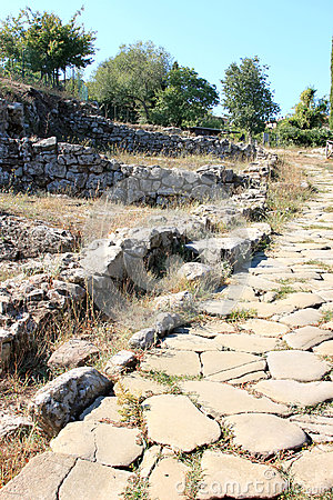 Excavations of the ancient city of Vetulonia, Italy