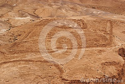 Excavations of ancient Roman camp near Masada fort