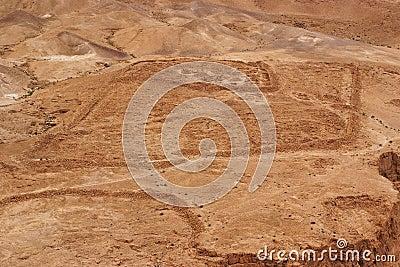 Excavations of ancient Roman camp near Masada fort