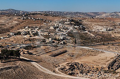 Excavations and Arab village near ancie