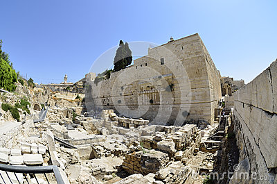 Excavations near Western Wall in Jerusalem,