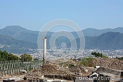 Excavations in Pompeii