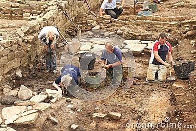 Excavations at Roman Vindolanda Editorial Photo