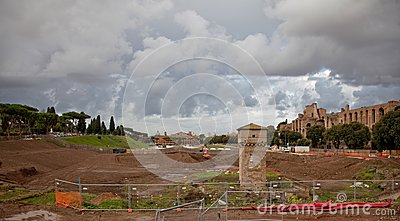 Excavations in Rome