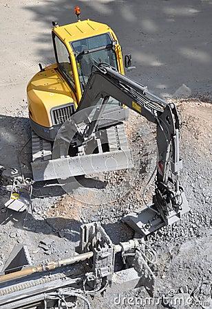 A excavator