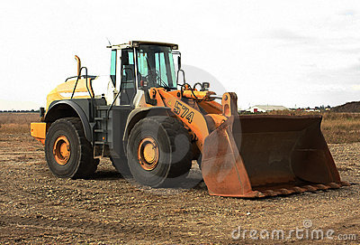 Excavator with big cup