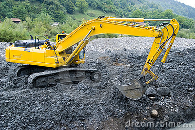 Excavator crane