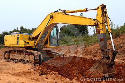 Excavator digging images galleries for Digging ground dream meaning