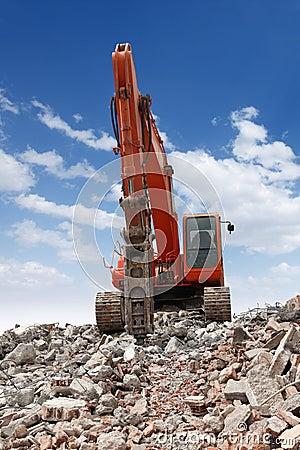Excavator With Hammer