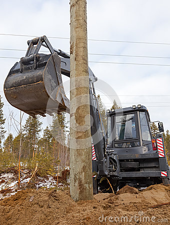 Excavator Loader Hydraulic Tractor Digging Stock Photo