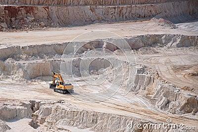 Excavator in opencast mine