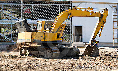 Excavator on project site