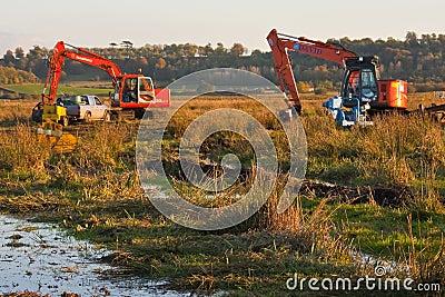 Excavator sinks Editorial Image