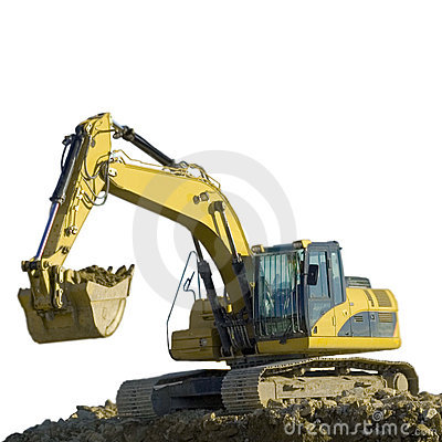 Free Excavator Working On The Groud Stock Photos - 3144123