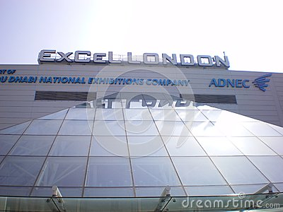 Excel  in London largest exhibition centre Editorial Stock Photo