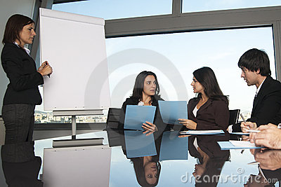 Exchange of ideas during training