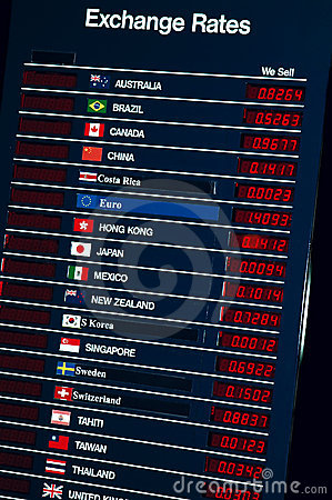Free Exchange Rates Stock Images - 1302674