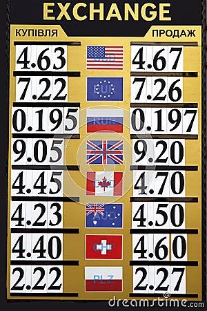 Free Exchange Rates Stock Photography - 5966912