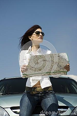 Excitador com um mapa