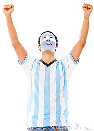 Excited Argentinean man