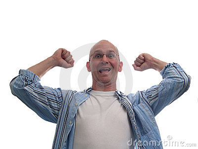 Really Excited Bald Man