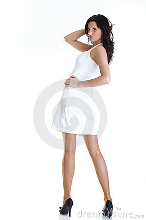 excited beautiful woman