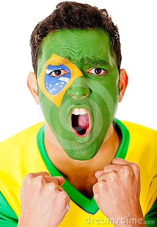 Excited Brazilian man