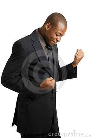 Excited Business Man Celebrating Success Royalty Free Stock Photo - Image: 10468405